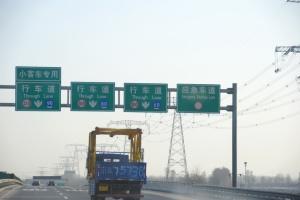 Beijing China freeway traffic sign